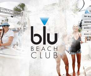 Inside the blu Beach Club